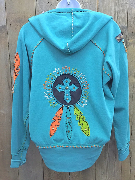 H-093 Dream Catcher Turquoise Jacket/Hoodie