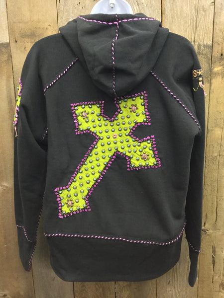 H-112 Cross Black Jacket/Hoodie