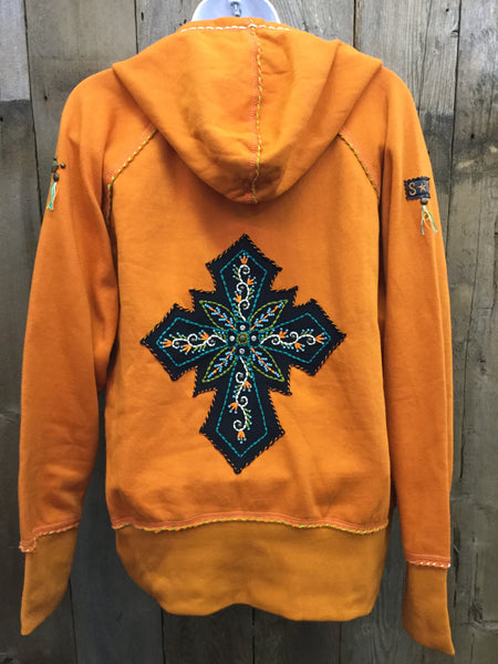 H-104 Cross  Orange Jacket/Hoodie