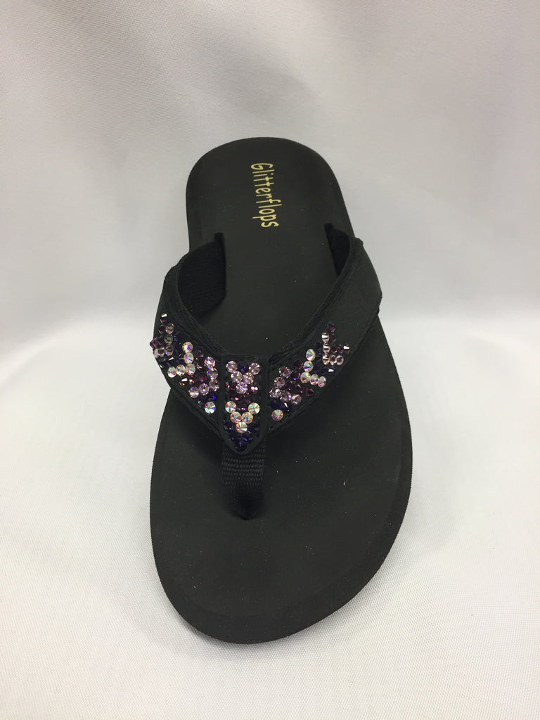 Southwest Weave Purple Flip Flops