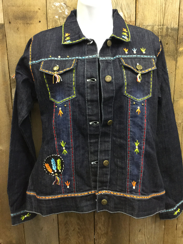 JJ-046 Indian Head Blue Jean Jacket