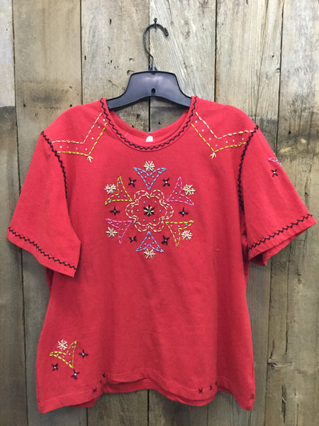 SH-012 Flower Red T-Shirt