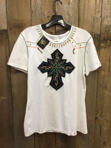 SH-104 Cross White T-Shirt
