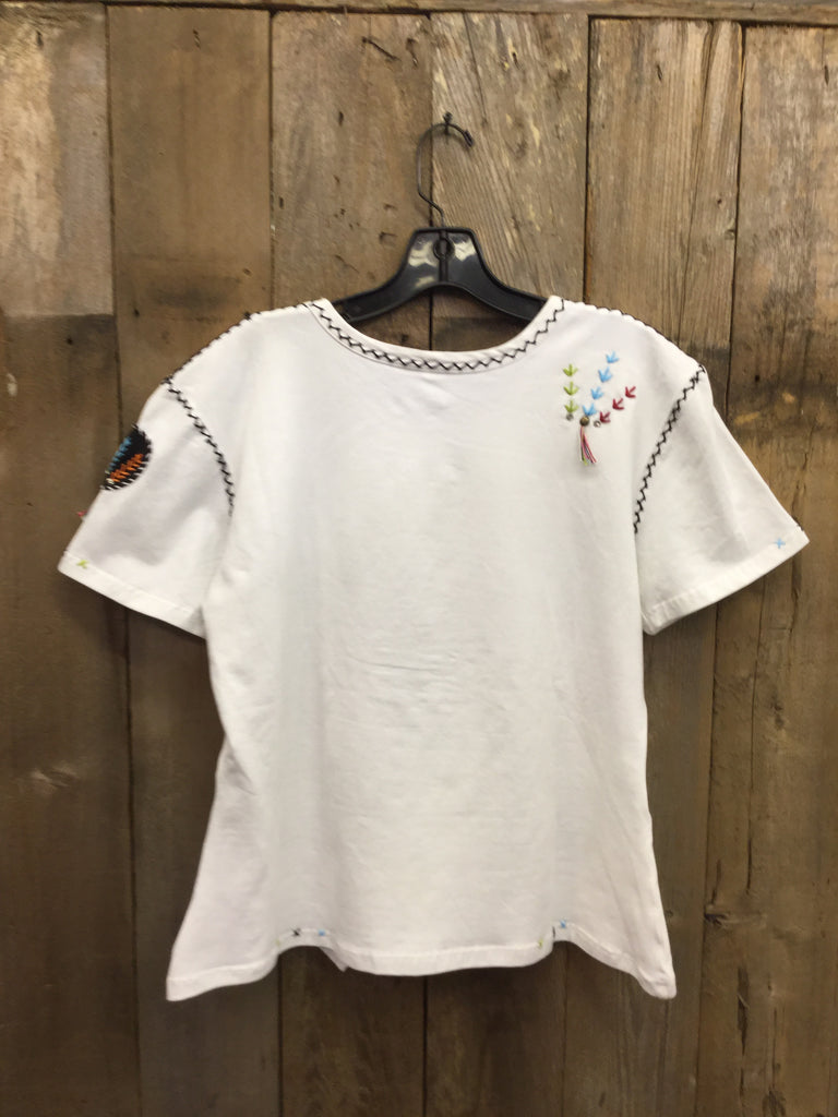 SH-046 Indian Head White T-Shirt