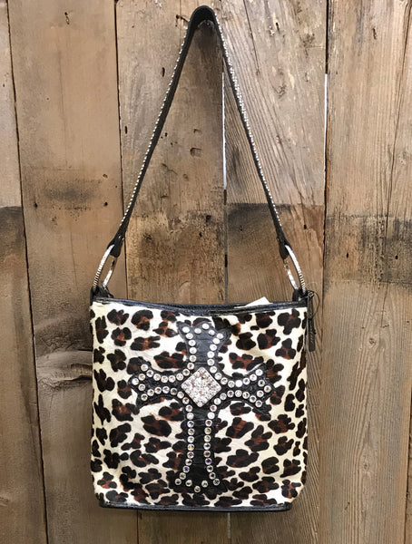 Leopard Bucket With Cross
