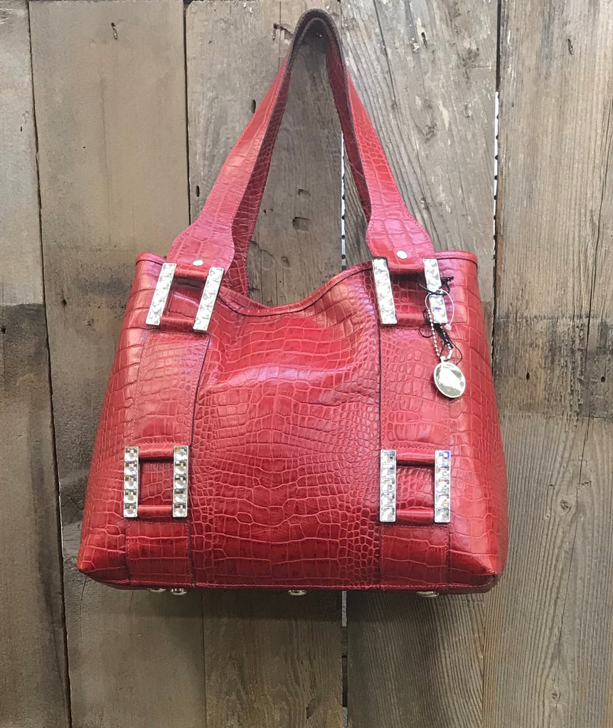 Red Croc With Buckles