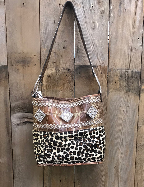 Leopard and Croc Bucket With Crystals