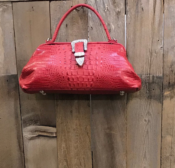 Red Croc With Buckle