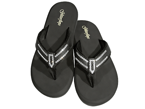 Black Tie Affair Flip Flops