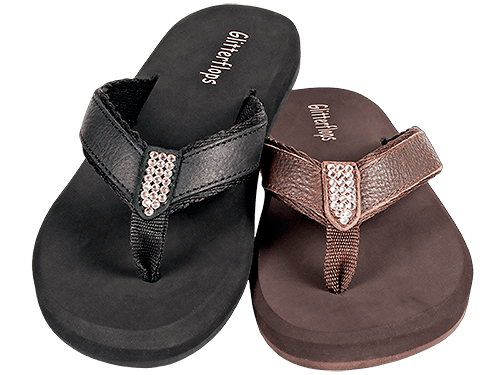 Simple Pleasure Crystal Flip Flops