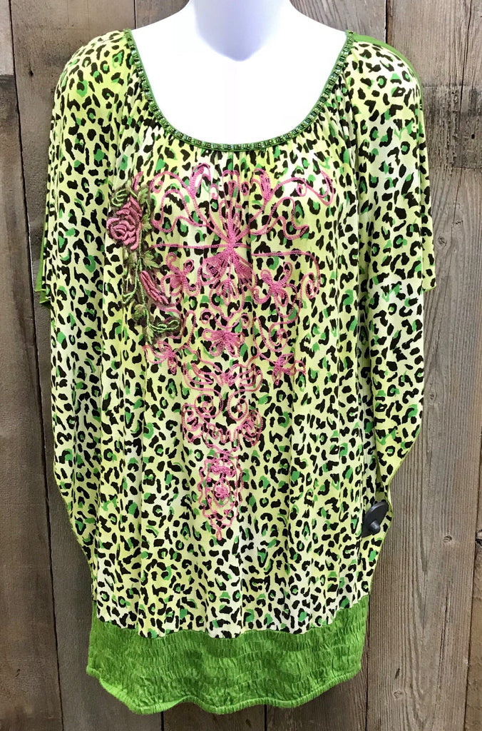Lime Leopard Top