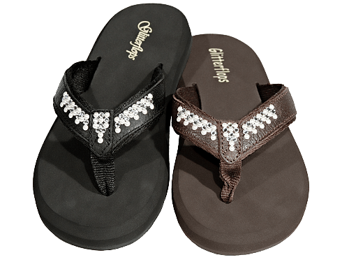 Pearls and Lace Flip Flops