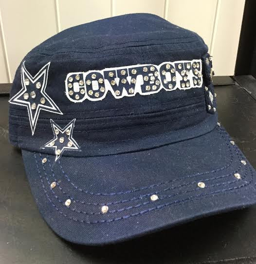 Dallas Cowboys Navy Blue Cap W/ Crystals