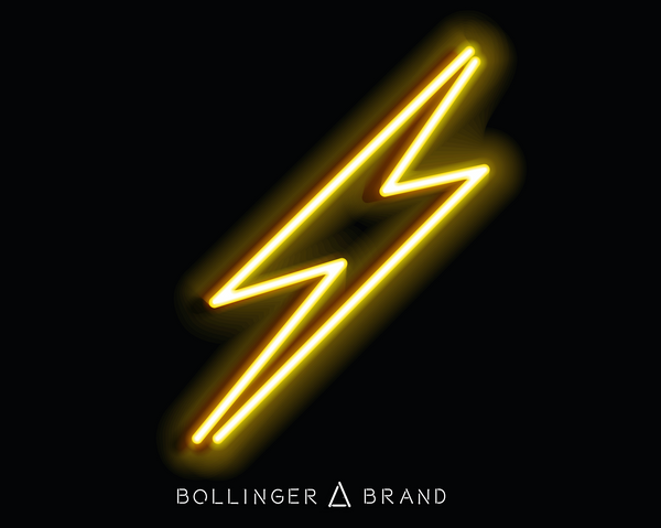 Neon Lightning Bolt Art Print