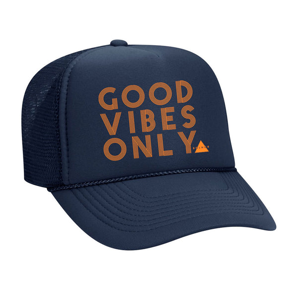New Good Vibes Only Trucker Hat - Navy
