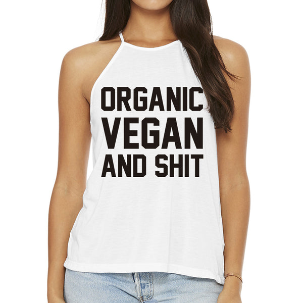 Vegan Vibes High Neck Tank