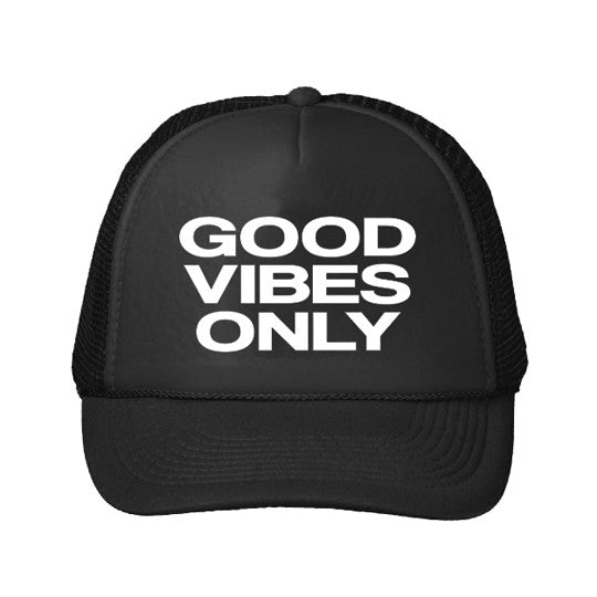 Youth Good Vibes Only Trucker Hat - Black
