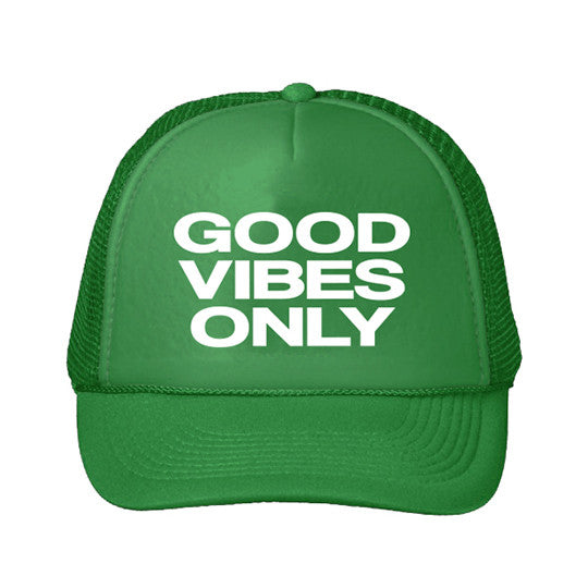 Youth Good Vibes Only Trucker Hat - Green