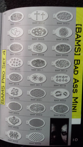 Bad Ass Mini Stencils <br> from pro set 4