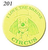 STICKERS BB0201  I Love The Shrine Circus<br>discontinued - available while supplies last