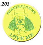 STICKERS BB0203  Shrine Clowns Love Me<br>discontinued - available while supplies last
