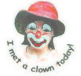 STICKERS BB0205  I Met A Clown (female) JH<br>discontinued - available while supplies last