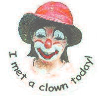 STICKERS BB0205  I Met A Clown (female) JH