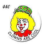 STICKERS BB0440   Clowns Are Cool (female)