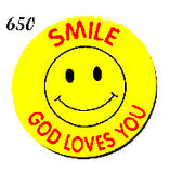 STICKERS BB0650  Smile God Loves You