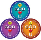 STICKERS AA022 <br>Smile God Loves You