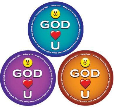 STICKERS AA022 <br>Smile God Loves You   200 ct