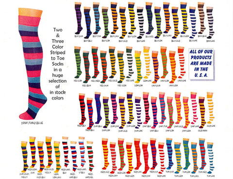 SOCKS - Knee Socks Striped