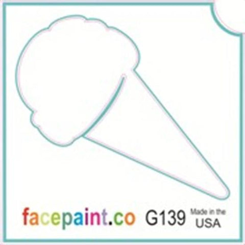 Tattoo Stencils 10 Pack <br> G139 - Ice Cream Cone