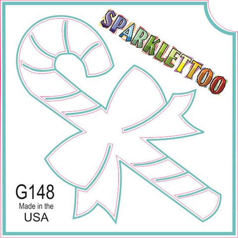 Tattoo Stencils 10 Pack <br> G148 - Candy Cane