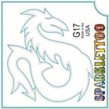 Tattoo Stencils 10 Pack<br>G017 - Dragon