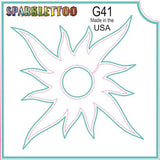Tattoo Stencils 10 Pack<br>G012 - Gecko/Lizard