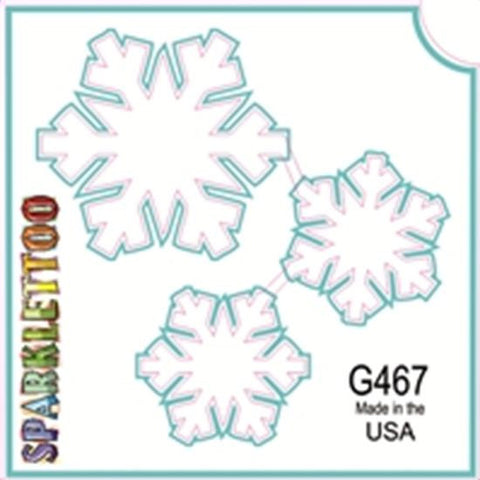 Tattoo Stencils 10 Pack<br>G467 Snowflakes