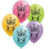 "Balloons - Round<br>5"" Goofy Alien Face<br>by  Juan Gonzales"