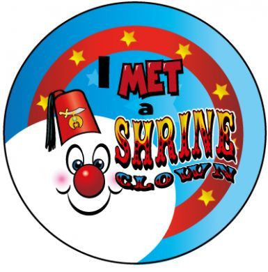 STICKERS AA027   I Met A Shrine Clown