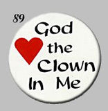 STICKERS BB0089   God Loves the Clown In Me