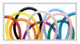 "Balloons - 260Q <br>Assortments (2""x60"") 100 count"