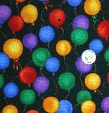 Fabric<br>Balloons on Black