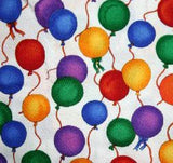 Fabric<br>Balloons on White<br>out of stock!