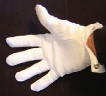 Gloves<br>White Cotton SNAP