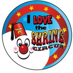 STICKERS AA026  <br>I Love The Shrine Circus