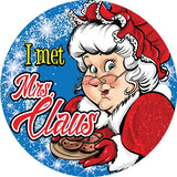 STICKERS AA052<br> I Met Mrs Claus