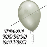 CLEARANCE Magic<br>Needle thru Balloon Trick<br>and Supplies