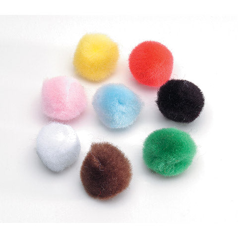 "Balloon stuffing<br>colored pom poms 1/2"" (100 ct)"