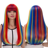 WIG<BR>Rainbow Long Full Bang