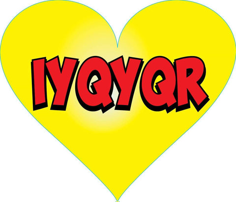 STICKERS AA055<br> IYQYQR  heart  200 ct